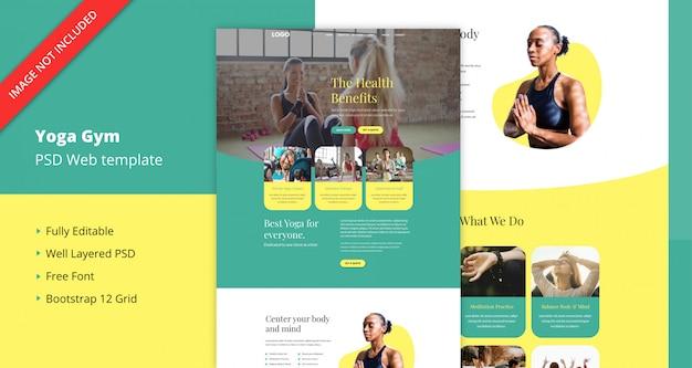 Plantilla de sitio web de gimnasio de yoga