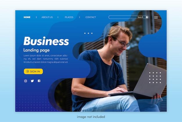 Plantilla de sitio web de página de destino empresarial