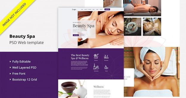 Plantilla de sitio web de spa de belleza