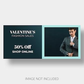 Plantilla social ventas día de san valentín.