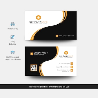 Plantilla de tarjeta corporativa y moderna de busienss
