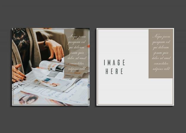 Plantilla de tarjeta creativa con imágen