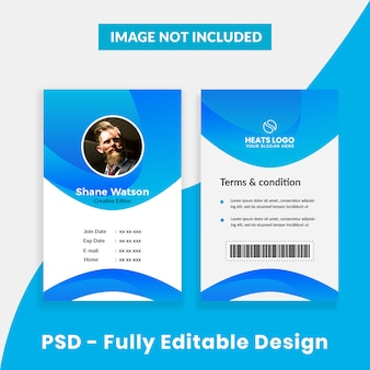 Plantilla de tarjeta de identificación de empresa creativa