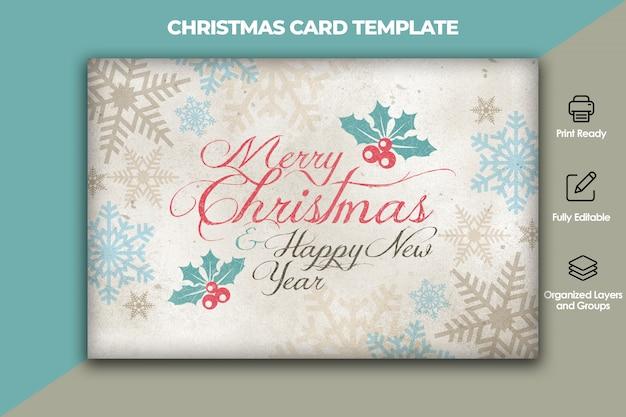 Plantilla de tarjeta de navidad y año nuevo