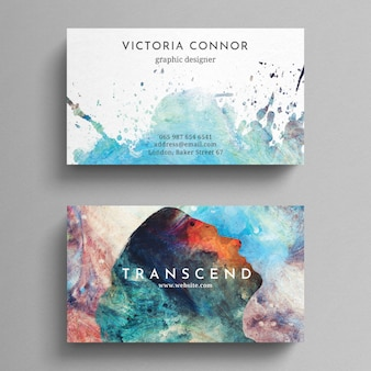 Plantilla de tarjeta de negocios colorida