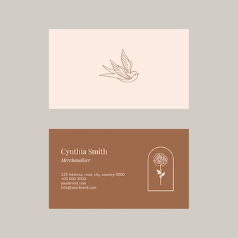 Plantilla de tarjeta de presentación de moda colección psd
