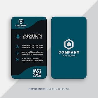 Plantilla de tarjeta de presentación vertical creativa