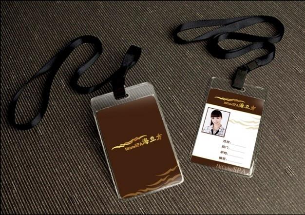 Plantilla de tarjeta de trabajo con cuerda