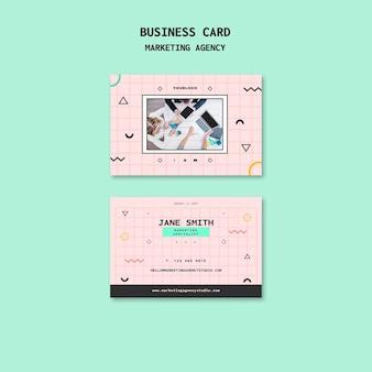 Plantilla de tarjeta de visita de agencia de marketing en redes sociales