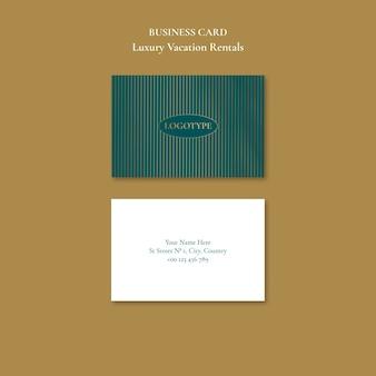 Plantilla de tarjeta de visita de alquileres vacacionales de lujo