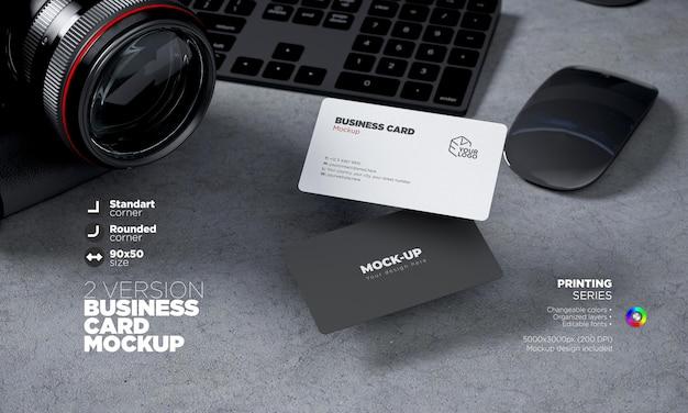 Plantilla de tarjeta de visita de anverso y reverso horizontal totalmente editable