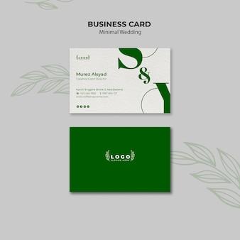 Plantilla de tarjeta de visita de boda mínima