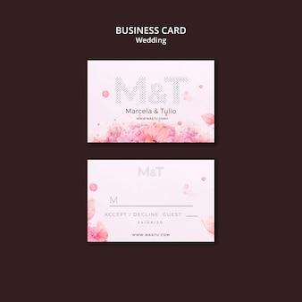 Plantilla de tarjeta de visita de boda