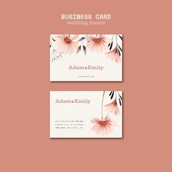 Plantilla de tarjeta de visita para bodas