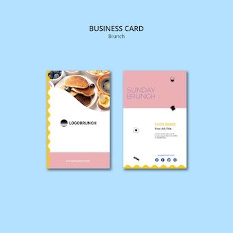 Plantilla de tarjeta de visita de brunch dominical