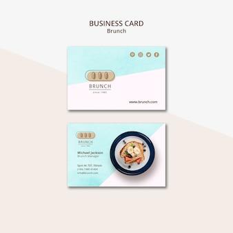 Plantilla de tarjeta de visita para brunch
