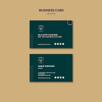 Plantilla de tarjeta de visita con brunch