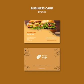 Plantilla para tarjeta de visita de brunch