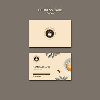 Plantilla de tarjeta de visita de café