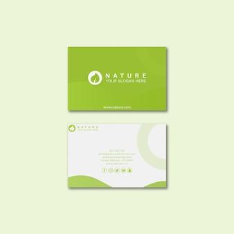 Plantilla de tarjeta de visita con concepto de belleza
