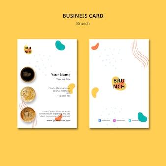 Plantilla de tarjeta de visita con concepto de brunch