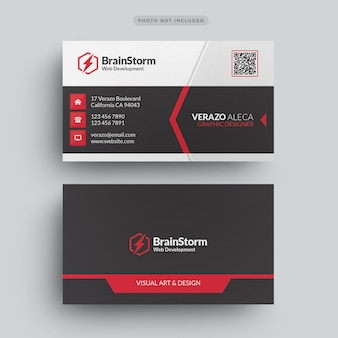 Plantilla de tarjeta de visita corporativa moderna