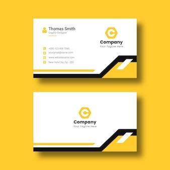 Plantilla de tarjeta de visita corporativa profesional