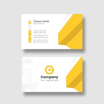 Plantilla de tarjeta de visita creativa y moderna