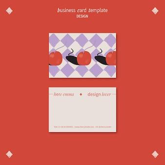 Plantilla de tarjeta de visita para diseñador gráfico