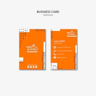 Plantilla de tarjeta de visita con diseño veterinario