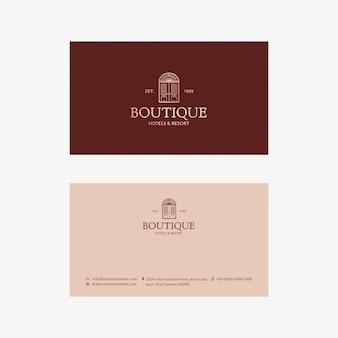 Plantilla de tarjeta de visita editable psd diseño de identidad corporativa