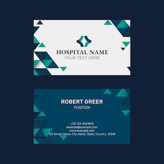 Plantilla de tarjeta de visita editable psd en diseño moderno