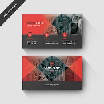 Plantilla de tarjeta de visita estilo suave y degradado