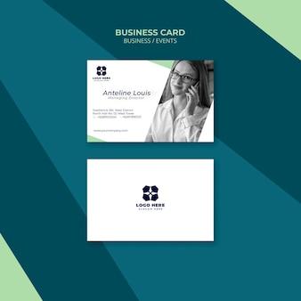 Plantilla de tarjeta de visita para expo de negocios