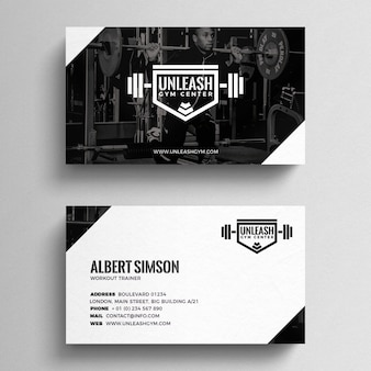 Plantilla de tarjeta de visita de fitness