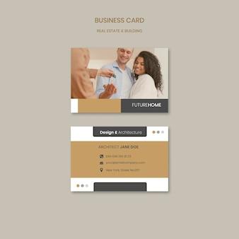 Plantilla de tarjeta de visita inmobiliaria con foto