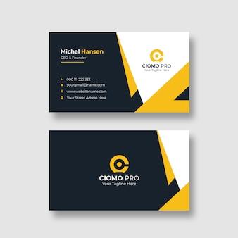 Plantilla de tarjeta de visita limpia corporativa