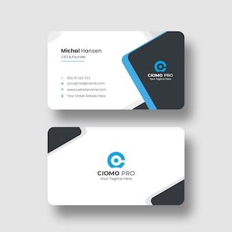 Plantilla de tarjeta de visita limpia