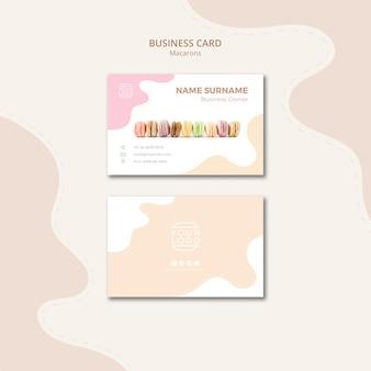 Plantilla de tarjeta de visita de línea de macarons