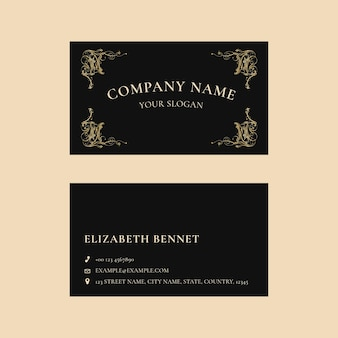Plantilla de tarjeta de visita de lujo psd en diseño minimalista