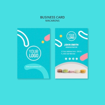 Plantilla de tarjeta de visita - macarons dulces