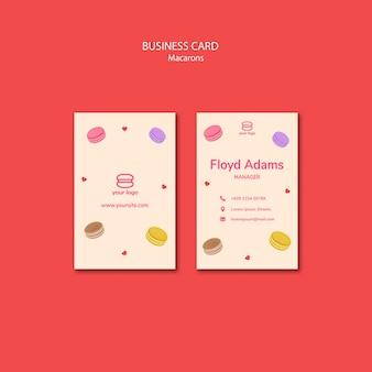 Plantilla para tarjeta de visita con macarons