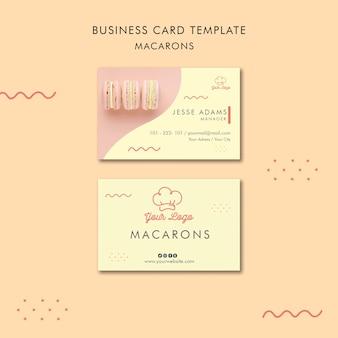 Plantilla de tarjeta de visita de macarons