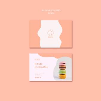 Plantilla de tarjeta de visita con macarons