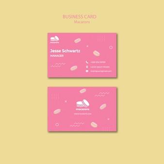 Plantilla de tarjeta de visita con macarrones