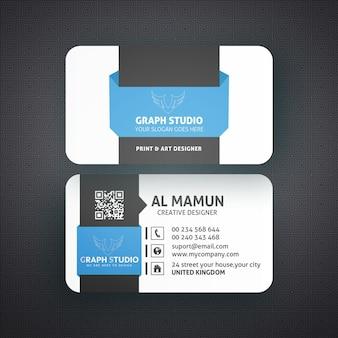Plantilla de tarjeta de visita maqueta