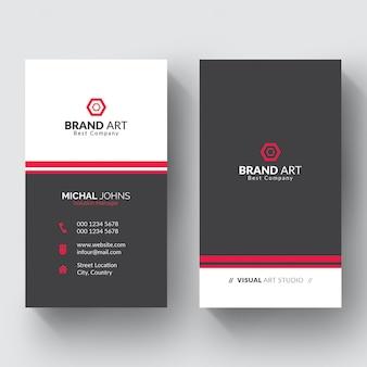 Plantilla de tarjeta de visita minimalista elegante