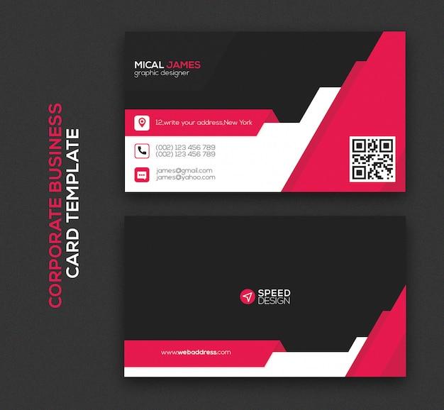Plantilla de tarjeta de visita moderna corporativa