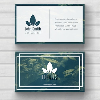 Plantilla de tarjeta de visita de naturaleza