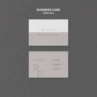 Plantilla de tarjeta de visita de papelería